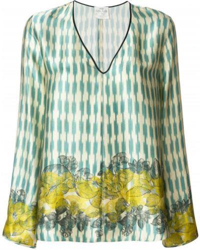 Блузка с длинным рукавом с V-образным вырезом с цветочным принтом Forte Forte