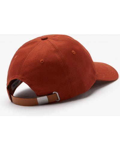 Ватная с ремешком хлопковая кепка Lacoste