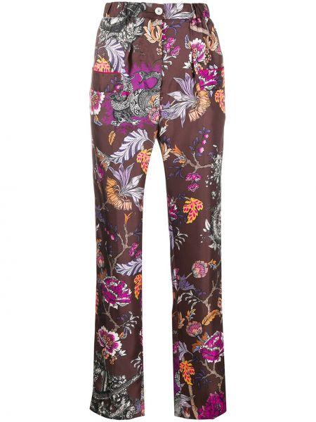 Шелковые фиолетовые брюки с поясом на молнии F.r.s. For Restless Sleepers