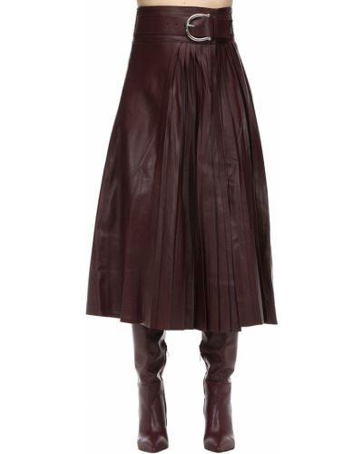 Плиссированная юбка с завышенной талией кожаная Dodo Bar Or