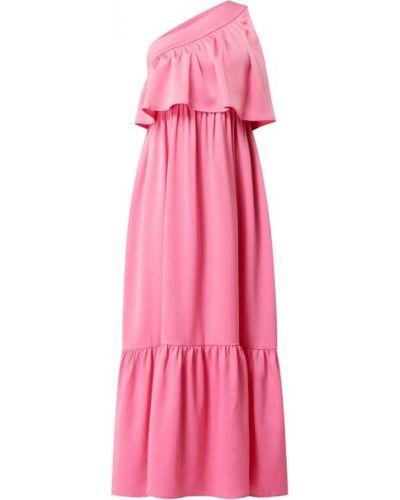 Różowa sukienka rozkloszowana z falbanami Y.a.s