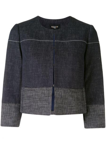 Хлопковый синий пиджак круглый Paule Ka