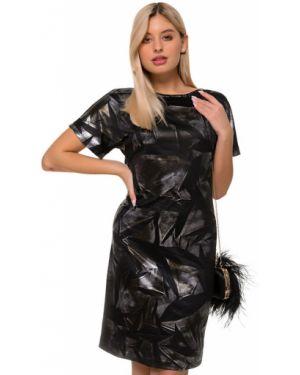Вечернее платье платье-сарафан черное Nikol