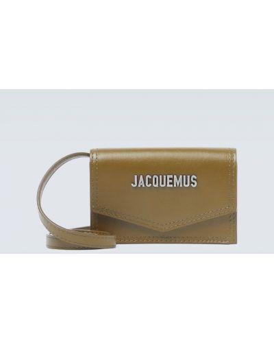 Z paskiem torba na ramieniu z prawdziwej skóry khaki Jacquemus