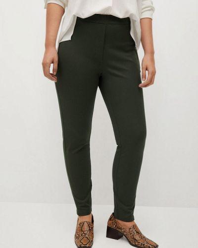 Зауженные брюки хаки Violeta By Mango