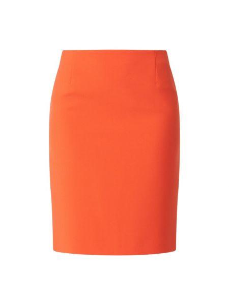Spódnica ołówkowa bawełniana - pomarańczowa Boss