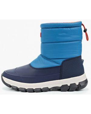 Ботинки осенние синий Hunter