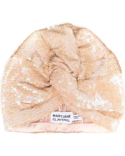 Różowy turban z wiskozy Maryjane Claverol