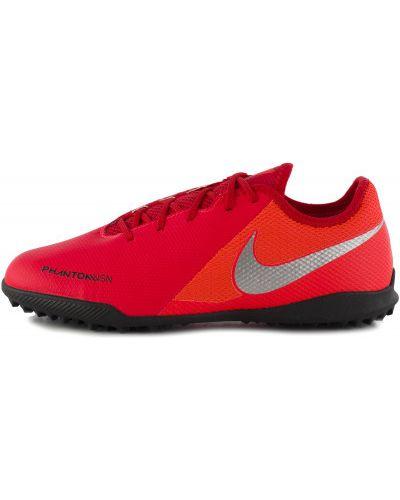 Бутсы красный на шнуровке Nike