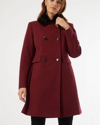 Красное пальто двубортное Dorothy Perkins