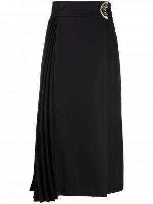 Юбка миди с завышенной талией - черная Elie Saab