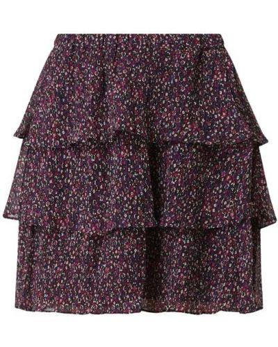 Fioletowa spódnica mini rozkloszowana z szyfonu Michael Michael Kors