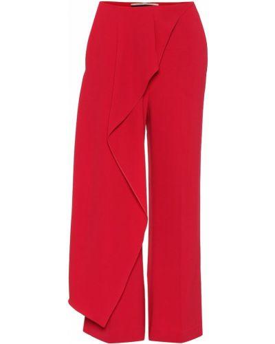 Укороченные брюки с драпировкой из вискозы Roland Mouret