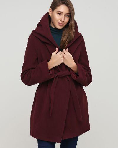 Красное пальто с капюшоном Apart