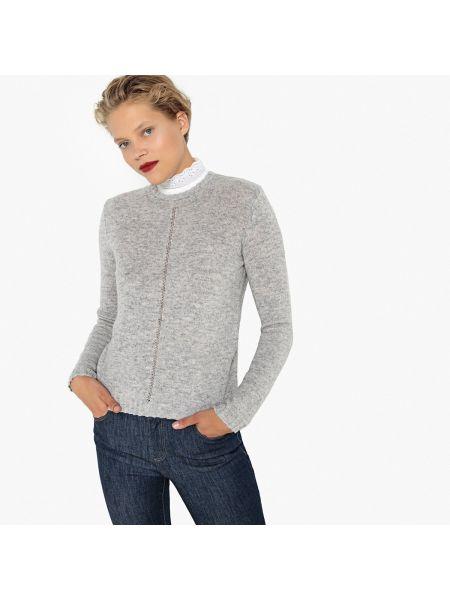 Пуловер с воротником-стойкой из вискозы La Redoute Collections