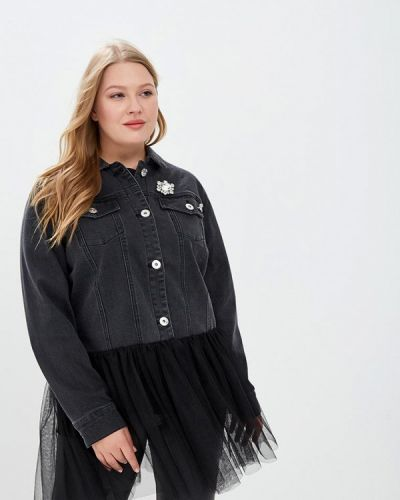 Джинсовая куртка черная осенняя Studio Untold