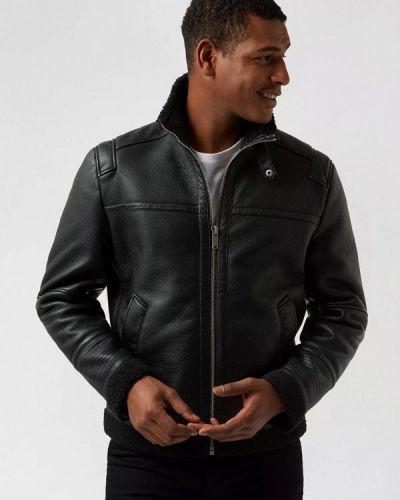 Черная кожаная куртка Burton Menswear London