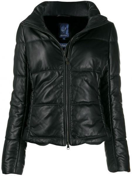 Длинная куртка черная укороченная Jacob Cohen