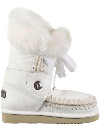 Biały futro Mou