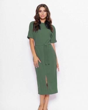Повседневное платье осеннее зеленый Magnet