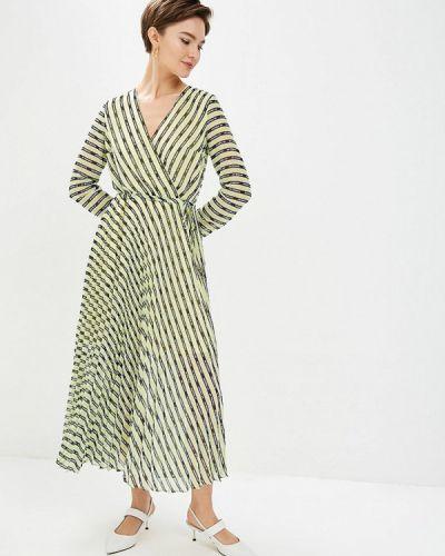 Платье прямое зеленый Befree
