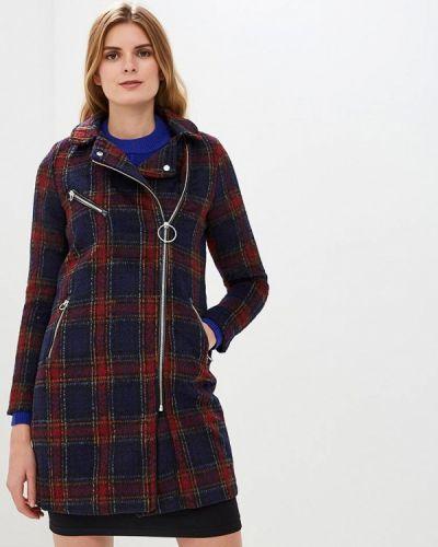 Синее пальто с капюшоном Tiffosi
