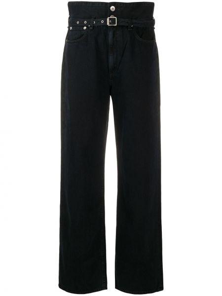 Широкие джинсы черные на пуговицах Rag & Bone