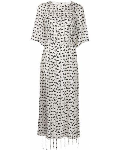 Шелковое платье мини - белое Jason Wu