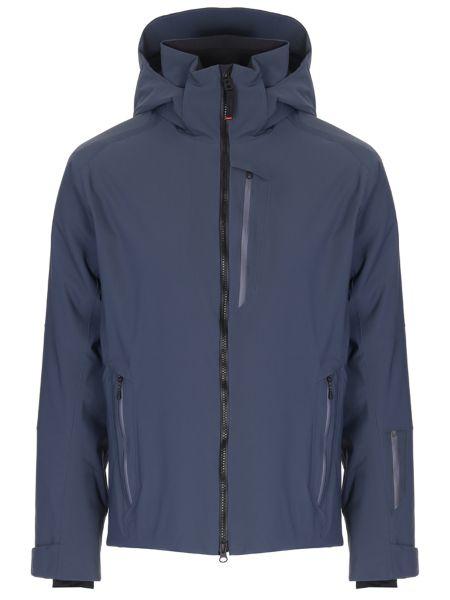 Синяя куртка с капюшоном на молнии с карманами с воротником Bogner