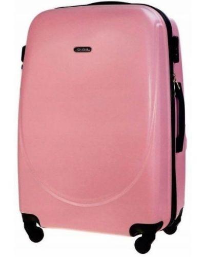 Różowa walizka oversize Solier