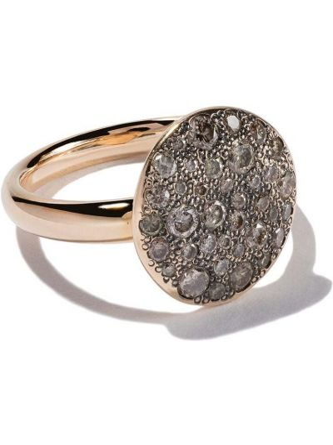 Żółty złoty pierścionek z diamentem Pomellato