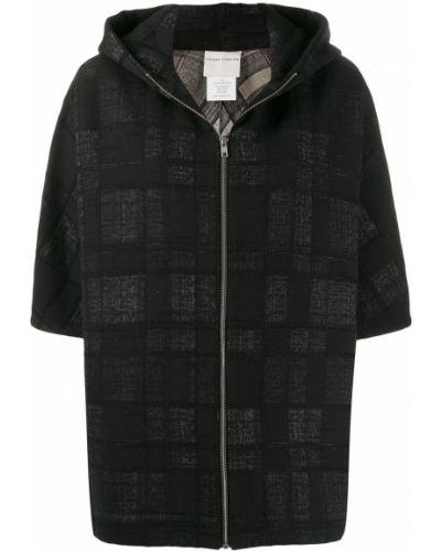 Прямая черная короткая куртка Stephan Schneider