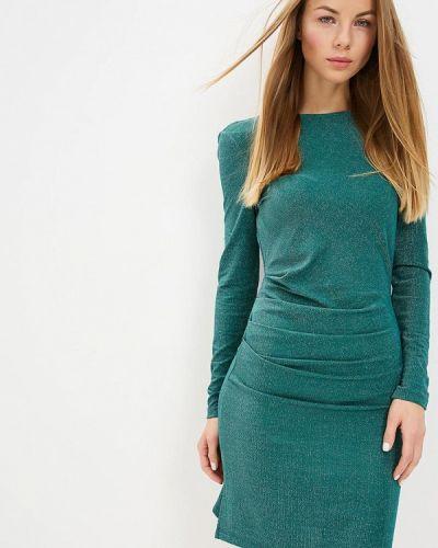 Вечернее платье осеннее зеленый Vila