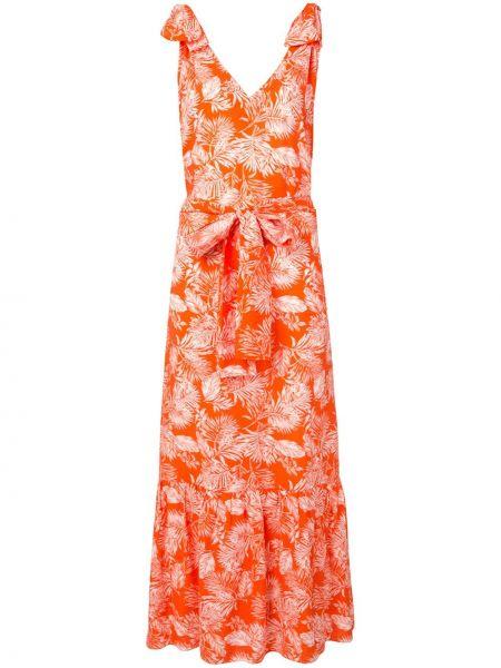 Sukienka letnia w kwiaty z rękawami Bambah