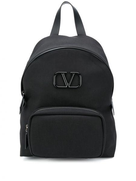 Czarny plecak srebrny Valentino