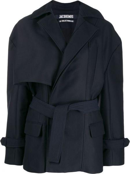 Płaszcz bawełniany - niebieski Jacquemus