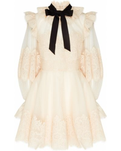 Платье мини ажурное с воротником Zimmermann