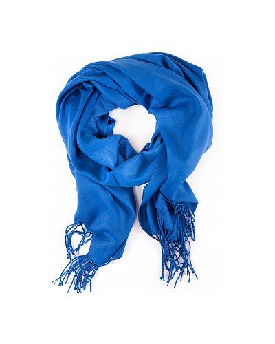 Синий шерстяной палантин Magrom