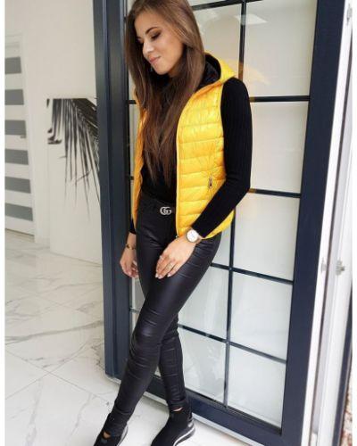 Żółta sport kamizelka elegancka materiałowa Dstreet