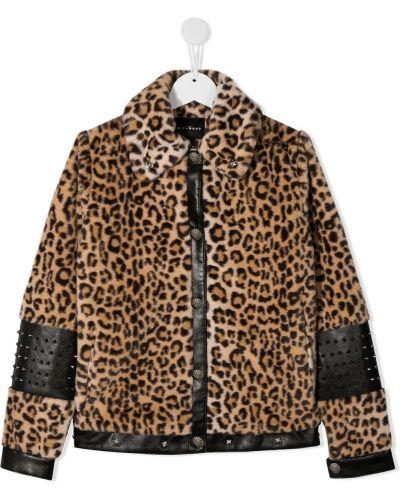 Ватная черная кожаная куртка John Richmond Junior
