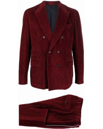 Красный костюм вельветовый Eleventy