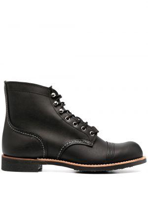 Черные пинетки на шнуровке на каблуке Red Wing Shoes