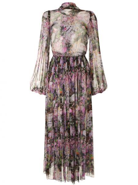 Плиссированное платье с воротником эластичное из вискозы Romance Was Born
