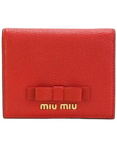 Кожаный кошелек с бантом Miu Miu