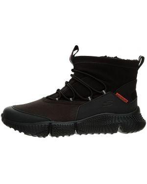 Высокие кроссовки на молнии текстильные Skechers