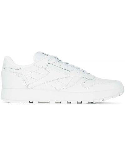 Белые кожаные кроссовки Maison Margiela X Reebok