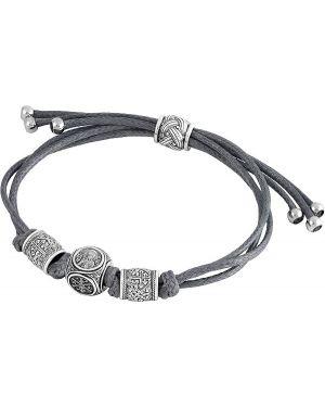 Кожаный браслет - серый акимов