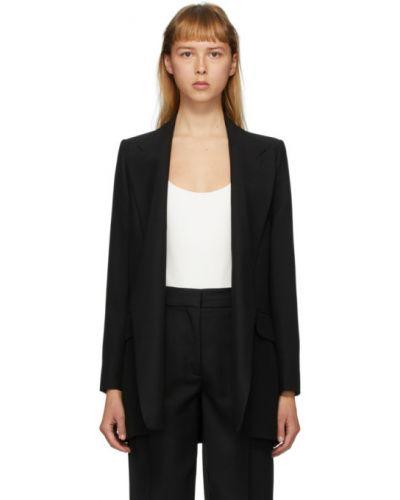 Шерстяной черный пиджак с карманами с воротником Ami Alexandre Mattiussi
