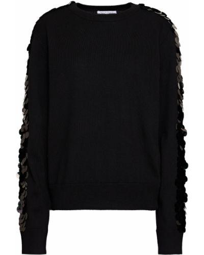 Черный шерстяной свитер с пайетками Bella Freud