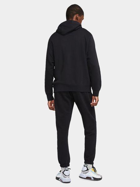Свободный черный теплый спортивный костюм Nike